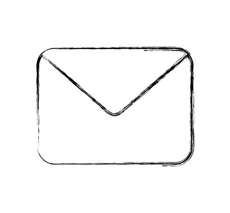 envelope mail flat icon vector illustration design