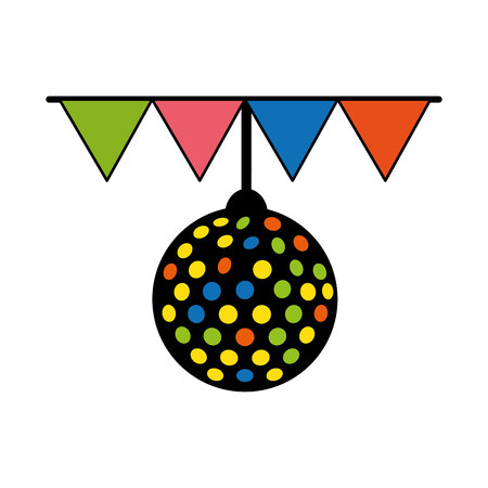 disco lights ball isolated icon vector illustration design