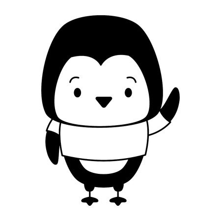 cute penguin animal cartoon vector illustration design 版權商用圖片 - 121246574