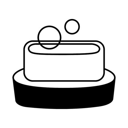 soap hygiene bubbles on white background vector illustration
