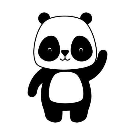 Conception d'illustration vectorielle de dessin animé animal mignon panda Vecteurs