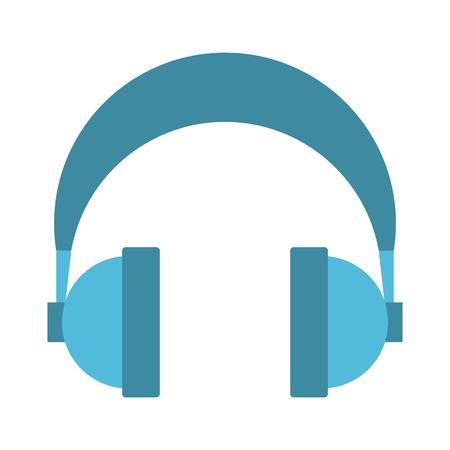 Appareil audio casque sur fond blanc vector illustration