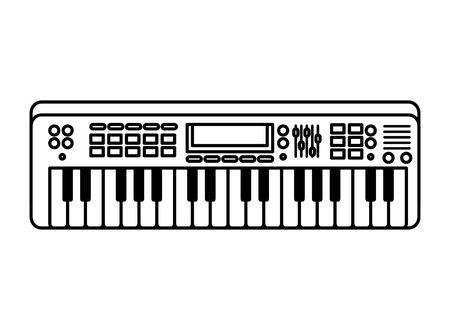 piano keyboard isolated icon vector illustration design Vettoriali