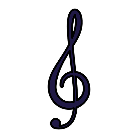 music note isolated icon vector illustration design Banco de Imagens - 123233912