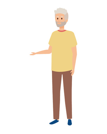 cute grandfather avatar character vector illustration design Фото со стока - 123233933