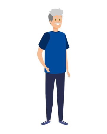 cute grandfather avatar character vector illustration design Фото со стока - 123233954