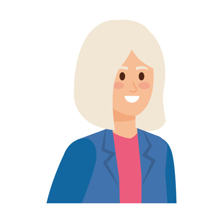 cute grandmother avatar character vector illustration design