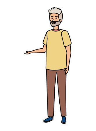 cute grandfather avatar character vector illustration design Фото со стока - 123234004