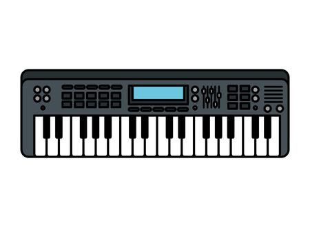 klawiatura fortepianu na białym tle ikona wektor ilustracja projekt Ilustracje wektorowe
