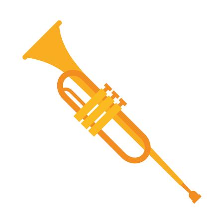 tromba strumento musica icona illustrazione vettoriale design