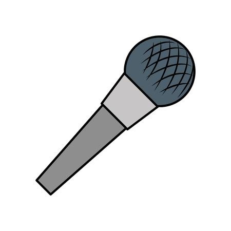 microphone audio device icon vector illustration design