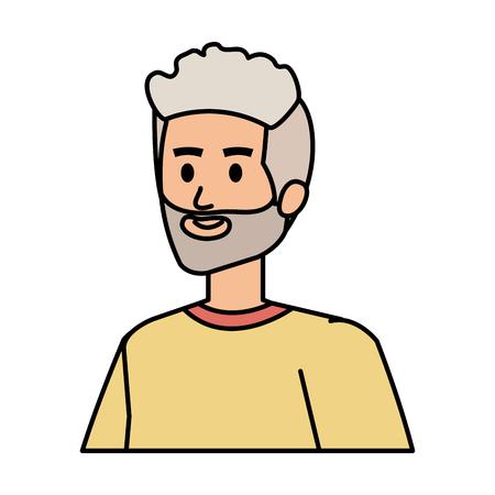 cute grandfather avatar character vector illustration design