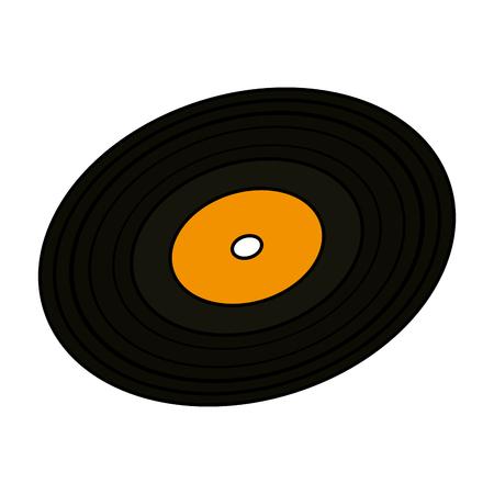 vinyl disc isolated icon vector illustration design Vector Illustration