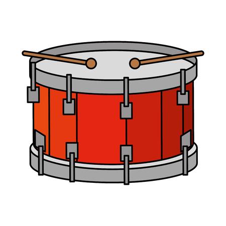 tamburo strumento musicale icona illustrazione vettoriale design Vettoriali