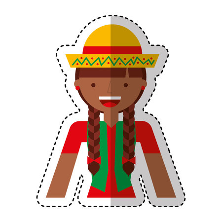 peasant woman avatar character vector illustration design 向量圖像