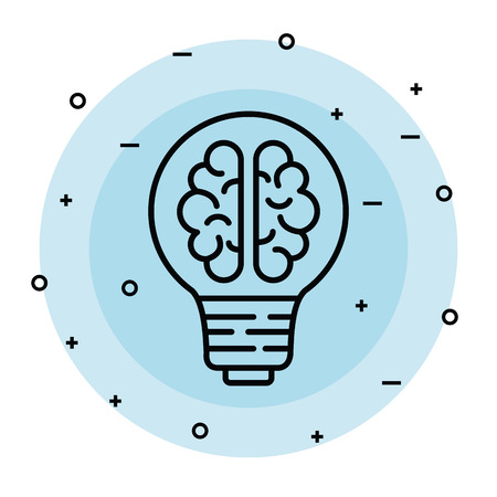 bulb idea with health brain and creative vector illustration Standard-Bild - 123139072