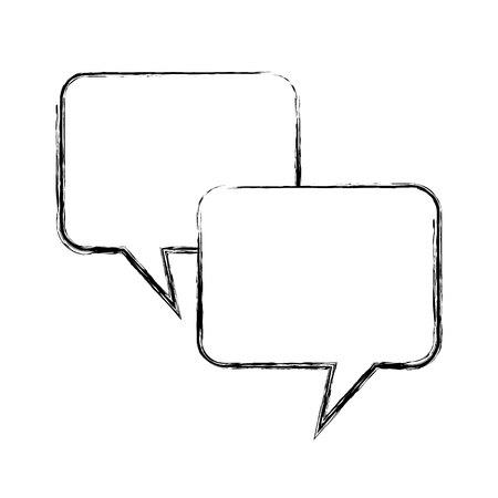 speech buble isolated icon vector illustration design Ilustración de vector