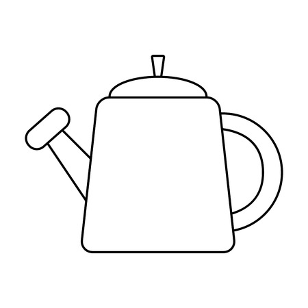 watering can gardening on white background vector illustration  イラスト・ベクター素材