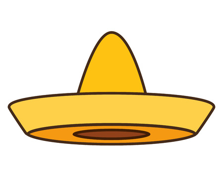 mexican hat traditional icon on white background vector illustration Standard-Bild - 123139202