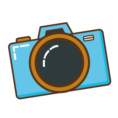 photographic camera isolated icon vector illustration design Vettoriali