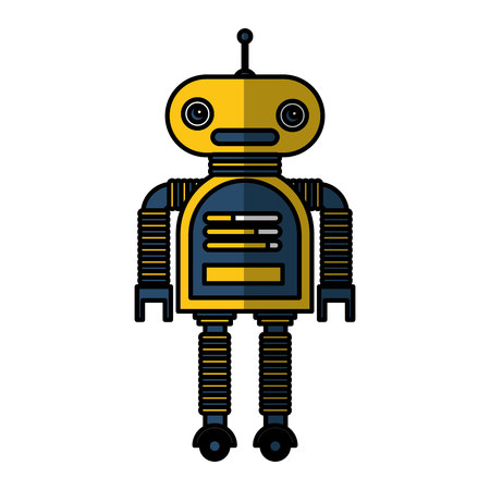 electric robot avatar character vector illustration design Archivio Fotografico - 123139264