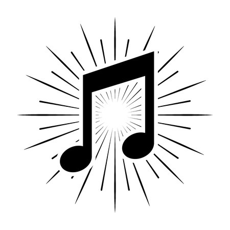 music note isolated icon vector illustration design Stock Vector - 123139381