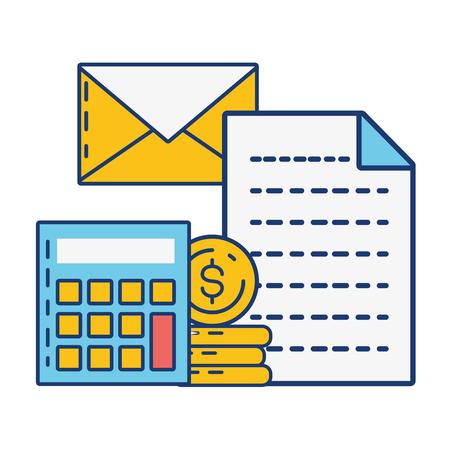 calculator email report online payment vector illustration Standard-Bild - 123139450