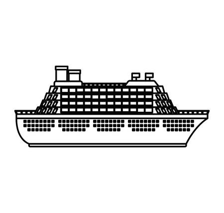Barco de crucero, diseño de ilustraciones vectoriales icono aislado