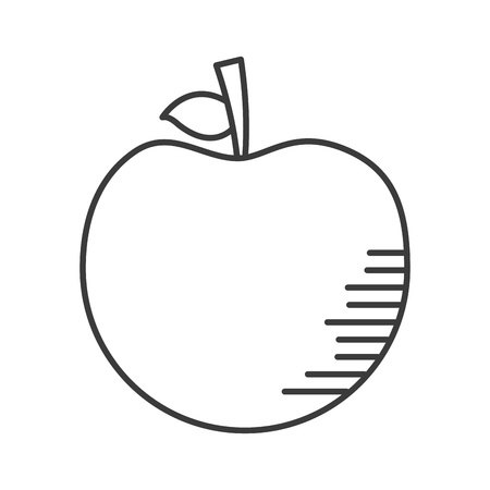 apple fresh fruit on white background vector illustration design