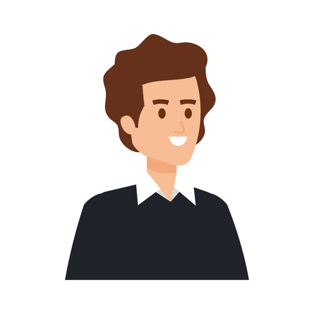 young man avatar character vector illustration design