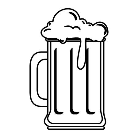 Jarra de cerveza, bebida, icono, vector, ilustración, diseño Ilustración de vector