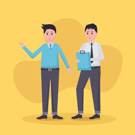team mensen werknemer kantoor vector illustratie ontwerp