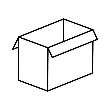 box carton isolated icon vector illustration design