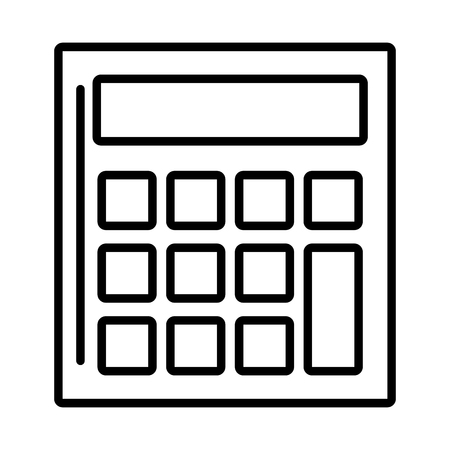 calculator math financial on white background vector illustration