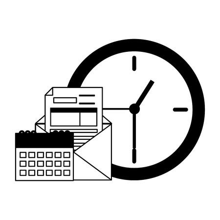 clock calendar coins tax time payment vector illustration 版權商用圖片 - 123142669