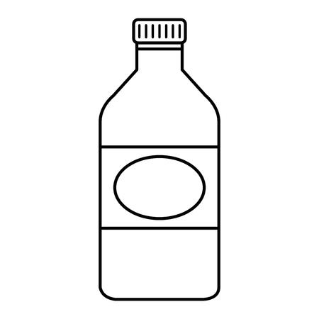 bottle glass isolated icon vector illustration design Illustration