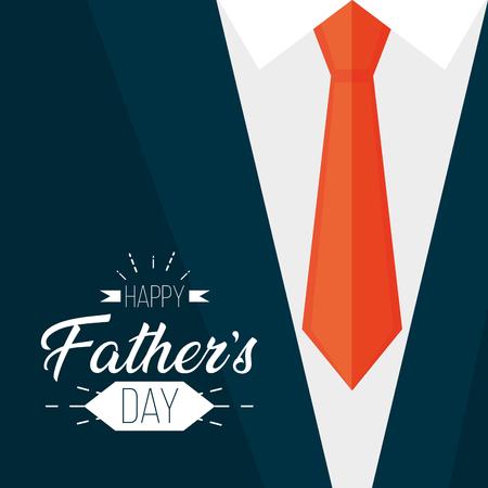 shirt necktie card happy fathers day vector illustration Stock Illustratie