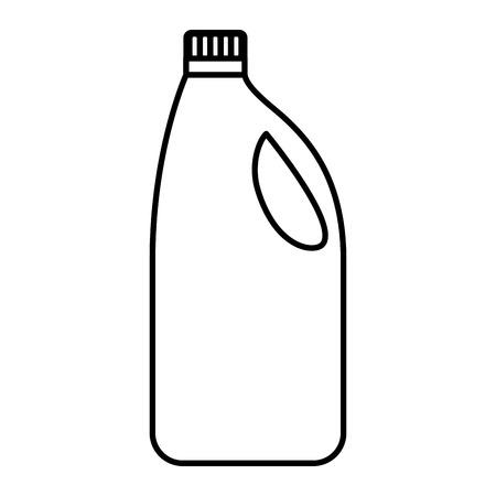 pulizia dello strumento della bottiglia del detersivo sull'illustrazione bianca di vettore del fondo