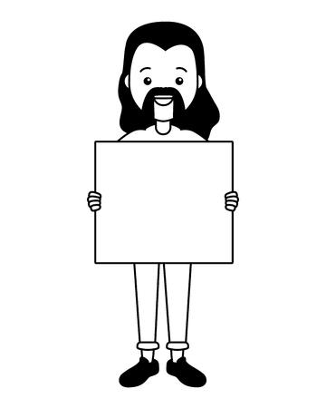 guy with board lgbt pride vector illustration Illustration