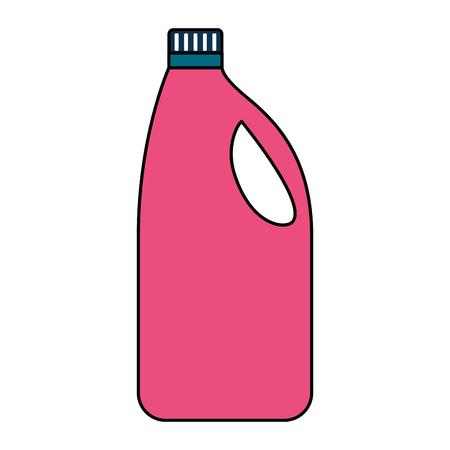 Nettoyage de l'outil de la bouteille de détergent sur fond blanc vector illustration Vecteurs