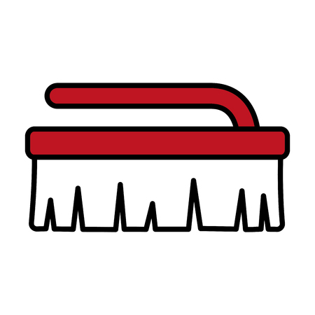 brush tool cleaning on white background vector illustration Ilustração