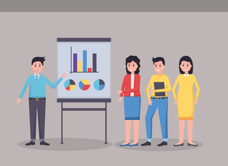 people board strategy office workplace vector illustration Stock Illustratie