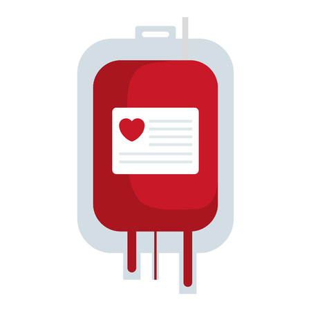 blood bag donation icon vector illustration design Çizim