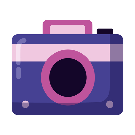 photography camera device on white background vector illustration Illustration