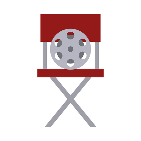 movie director chair isolated icon vector illustration design