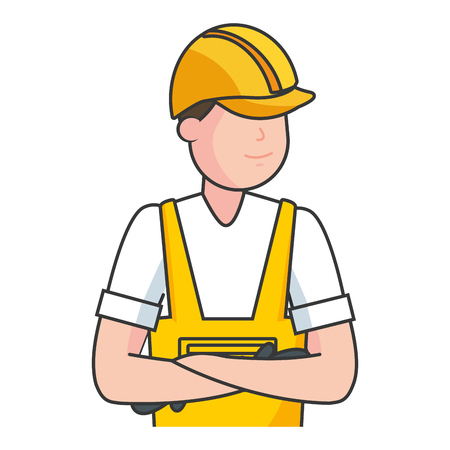 happy labour day worker employee vector illustration Foto de archivo - 123094661