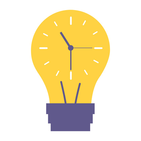 clock inside bulb time creativity vector illustration 向量圖像