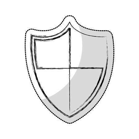 shield security isolated icon vector illustration design Banco de Imagens - 123094823