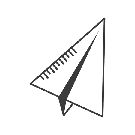 paper plane creativity on white background vector illustration design  イラスト・ベクター素材