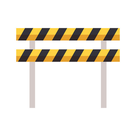 traffic barrier caution on white background vector illustration
